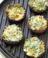 Creamy Spinach Stuffed Mushrooms