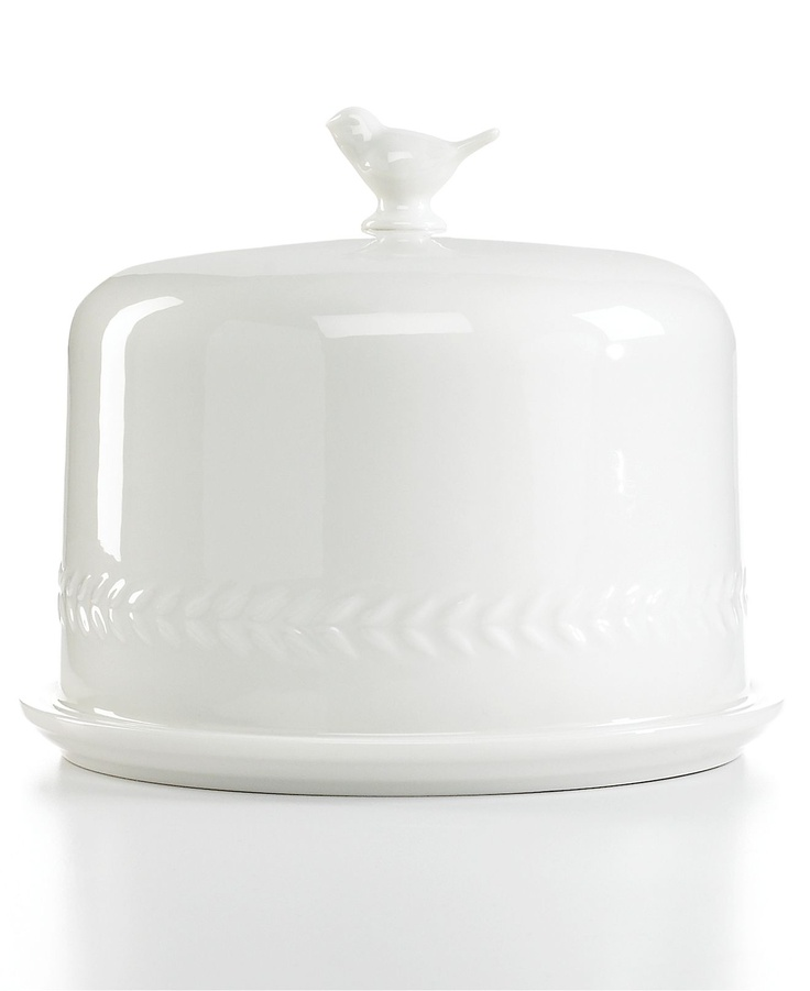 Martha Stewart cake dome with a bird on it!: Collection Servewar, Ceramics Birds, Birds Cakes, Birds Domes, Martha Stewart, Cakes Domes, White Cakes, Cakes Stands, Cupcakes Cakes