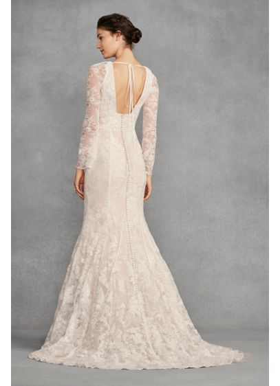 a8fd7267c6a06 White by Vera Wang Bell Sleeve Lace Wedding Dress Style VW351428 ...