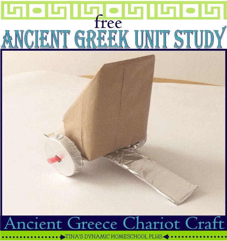 Ancient Greece Unit Study. Make an Ancient Greece Chariot @ Tina's Dynamic Homeschool Plus