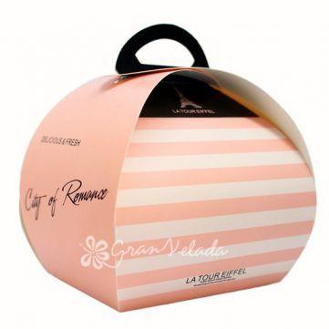Cajita de Regalo, París, con esta mini caja de estilo pastelero podrás completar tus detalles de boda o celebración.Es ideal!  #diy  #packaging
