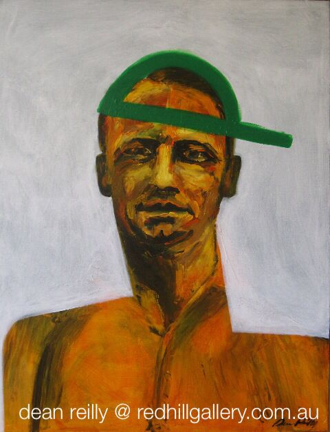 """Dean Reilly painting """"The Don"""" Red Hill Gallery, Brisbane. redhillgallery.com.au"""