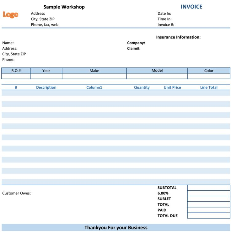 27 best Excel Business Invoices images on Pinterest Invoice - hospital invoice template