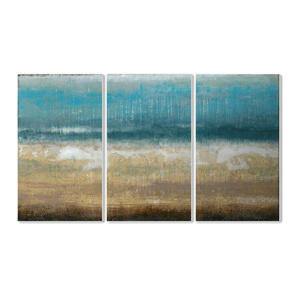 Stupell Twilight Coast 3-piece Triptych Wall Plaque Set