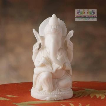 Lord ganesha in an elegant style, made up of marble powder