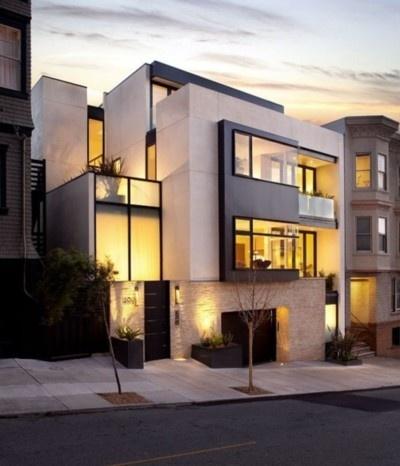 luxury exterior design, minimal house style