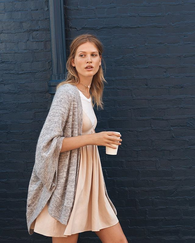We'll take our coffee and the Rosario Chemise to go, please. (link in profile to shop this look)