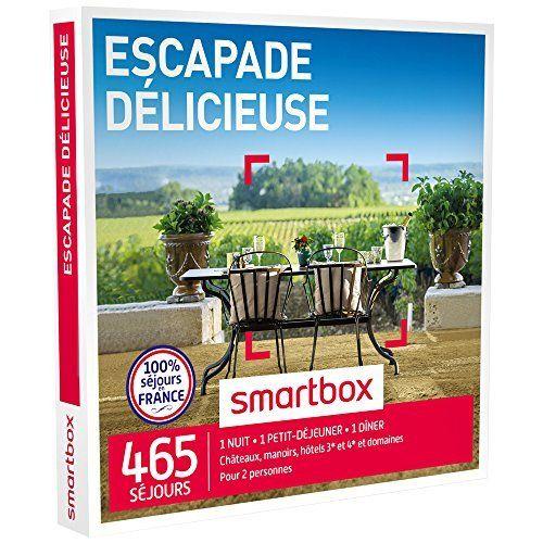 SMARTBOX – Coffret Cadeau – ESCAPADE DÉLICIEUSE – 465 séjours : maisons d'hôtes de charme, hôtels 3*, châteaux et manoirs: Les épicuriens…