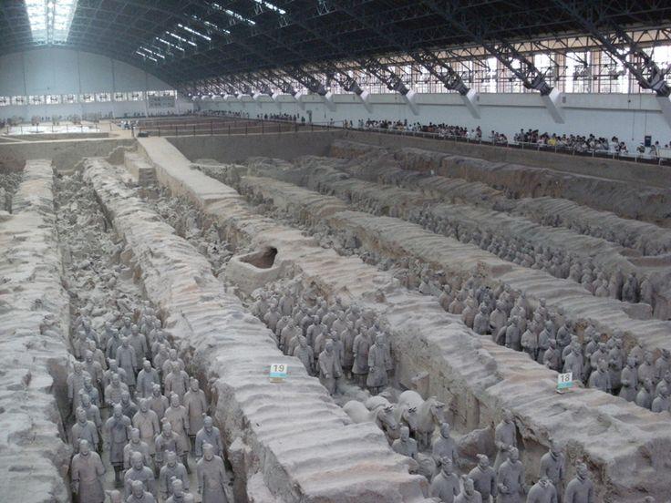 L'esercito di terracotta è una scoperta archeologica cinese. È formato da 6.000 a