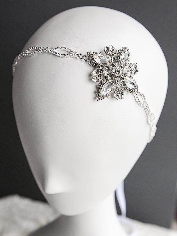 Bridal Headband Crystal Wedding Hair by GlamorousBijoux on Etsy, $78.00  This is literally perfect