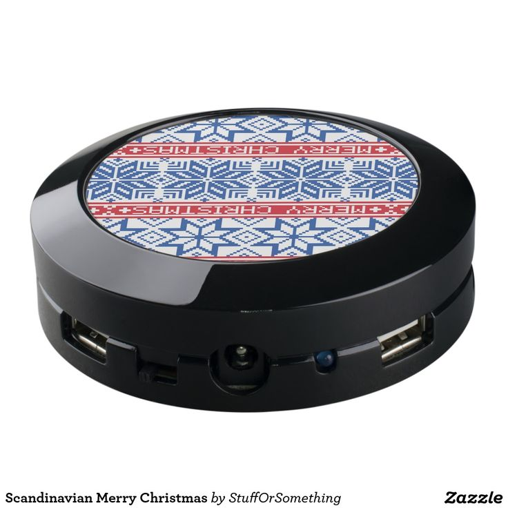 Scandinavian Merry Christmas USB Charging Station