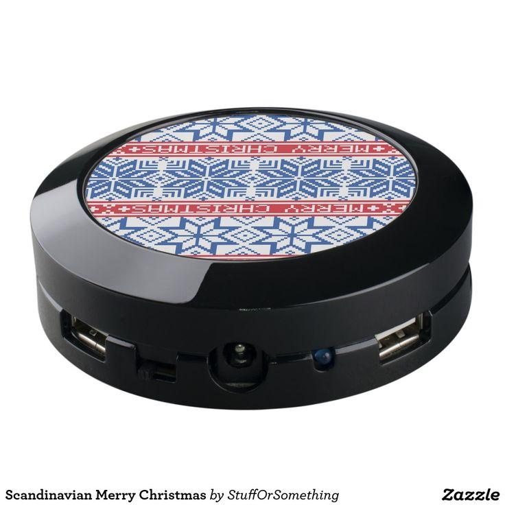 Scandinavian Merry Christmas USB Charging Station