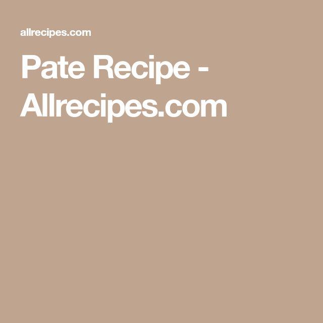 Pate Recipe - Allrecipes.com