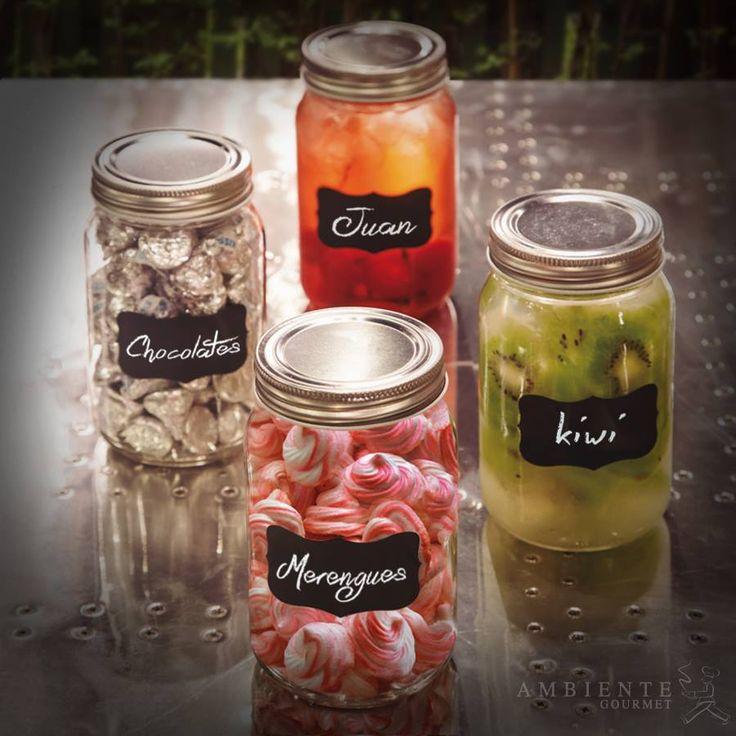 Etiqueta y almacena dulces, bebidas, conservas o cualquier otro ingrediente de tu cocina con los #masonjar.
