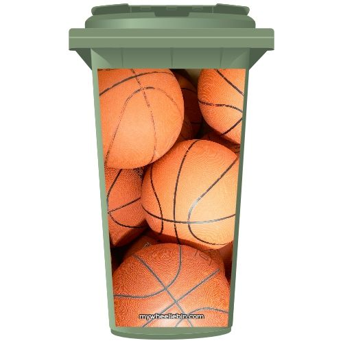 Basketballs Wheelie Bin Sticker Panel