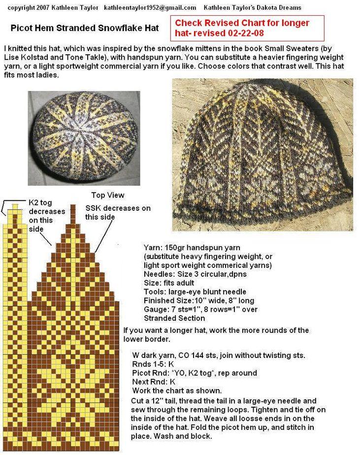 164 best шапки images on Pinterest   Fair isles, Knitting charts ...
