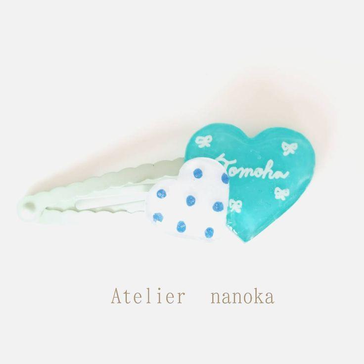 お名前ヘアピン お名前キーホルダーの次はお名前ヘアピンを作ってみようかな。 自分の名前やイ... | Atelier Nanokaのハンドメイド日記