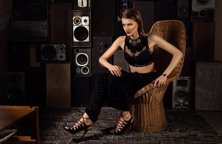 """The Bazar ""  Photographer: 	Ion Chih Model:		Esther Christina Booij Stylist :	Maureen Cloesmeijer  Makeup Artist: 	Maaike Buurman  Outfit 5 High neck all over lace crop top, ASOS Palazzo trousers, River Island Sandalettes, Mango"