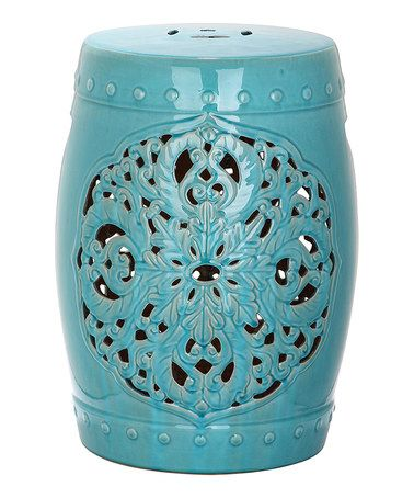 Love This Light Blue George Decorative Garden Stool On #zulily!  #zulilyfinds $99.99