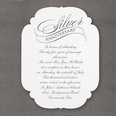 23 best anniversary invites more images on pinterest birthday silver anniversary with rounded scallops invitation party http stopboris Image collections