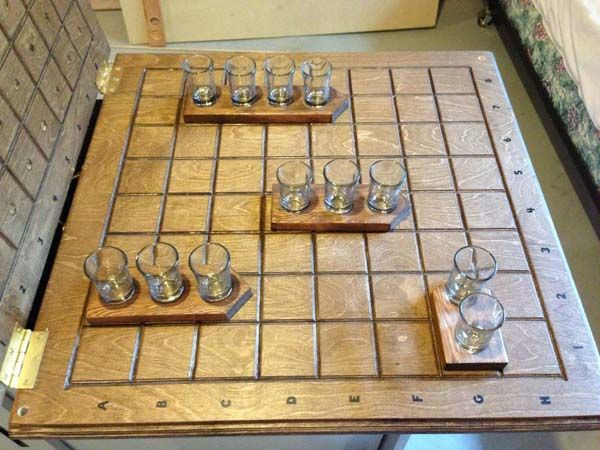If you know the game Battleship, then you'll know how to play this awesome drinking game. It's so awesome.
