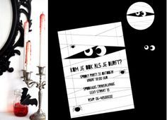 SPOOK FEESTJE - Mummie printable uitnodigingen @Jetjes & Jobjes