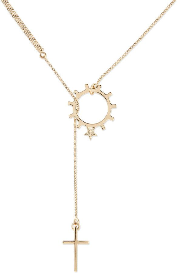 Givenchy Golden Brass Dizainier Lariat Necklace on shopstyle.com | My Style | Pinterest | Givenchy