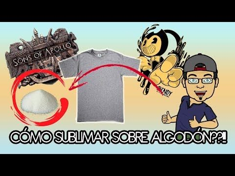 (81) Cómo sublimar algodón?: excelente técnica de estampado con Hot Melt. - YouTube
