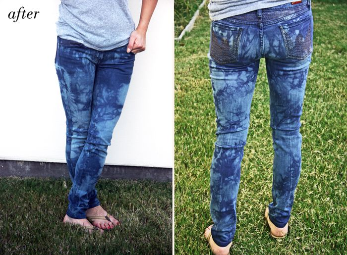 DIY // Tie Dye Jeans. Kinda like it!