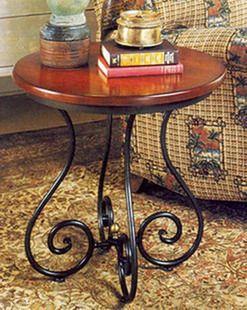 Mesa de centro en madera y forja