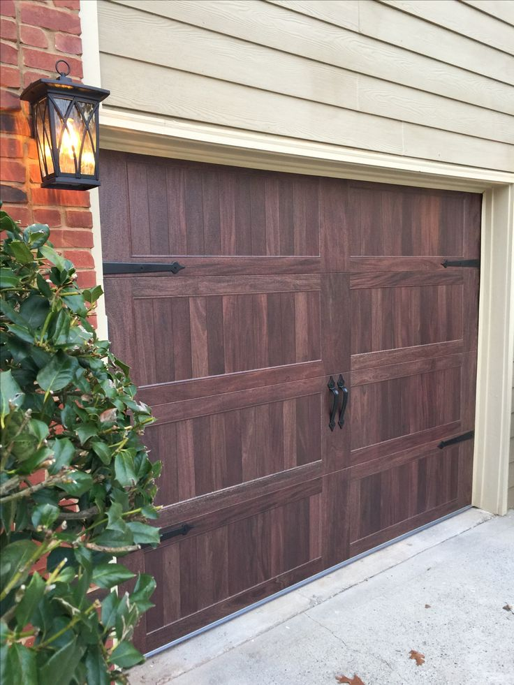 CHI Garage Doors - Accents collection, Carriage House Long Panel Mahogany
