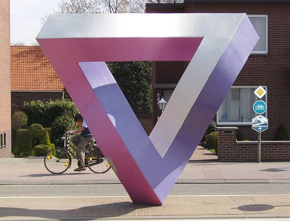 The Impossible Statue By Mathieu Hamaekers | Art | Pinterest | Penrose  Triangle