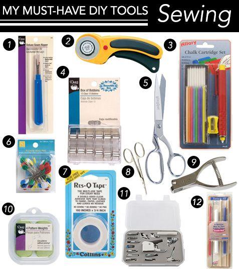 Die 12 Must-Have-Tools zum Nähen von Heimwerkern (Chic Steals)