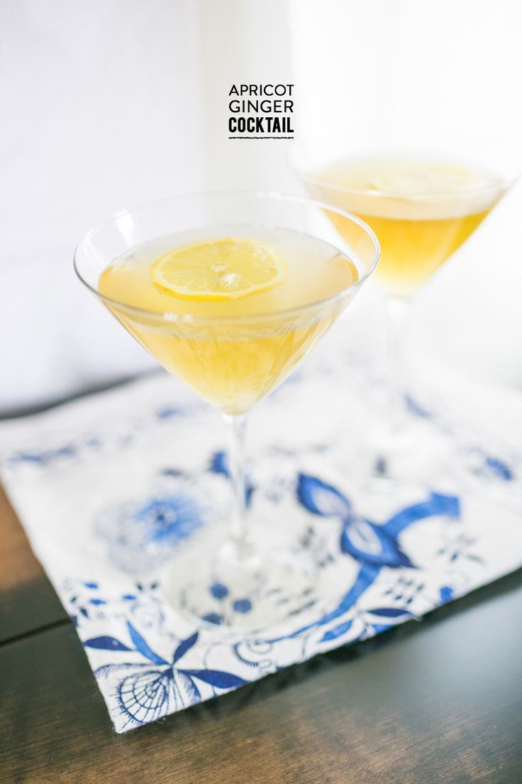 Apricot Ginger #cocktail Photography: Yvonne Rock  Read More: http://www.stylemepretty.com/living/2014/04/11/apricot-tea-ginger-cocktail/