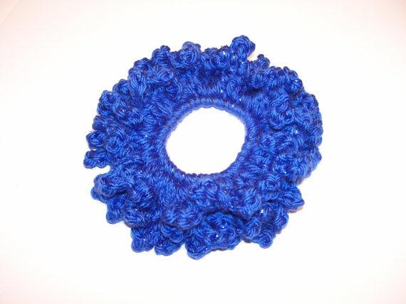 Blue Hair Scrunchie / Bright Royal Blue Hair by tinybabylady, $5.50