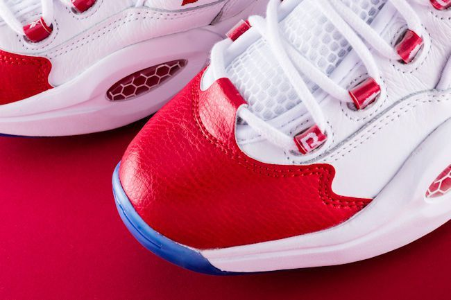 You can cop the classic Reebok Question Mid OG 'Red Toe' by The 1997 NBA Rookie of the Year, Allen Iverson.