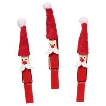 Santa Clothespins + Gift Tag Clips