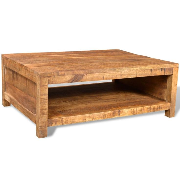 #Wooden #Coffee #Table #Vintage #Solid #Mango #Living #Room #Furniture #Storage #Shelf New