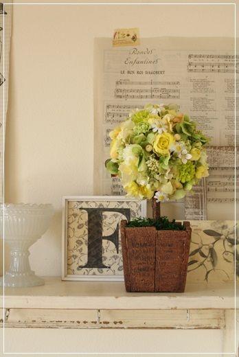 【今日の贈花】まとりかりあのトピアリー http://ameblo.jp/flower-note/entry-11800723648.html