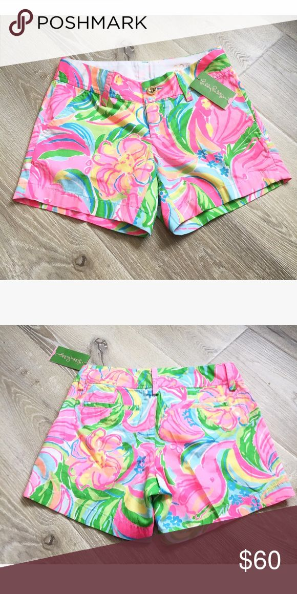 """LILLY PULITZER• """"the Callahan"""" mini shorts Size 00 •NWT • multi color Lilly Pulitzer Shorts"""