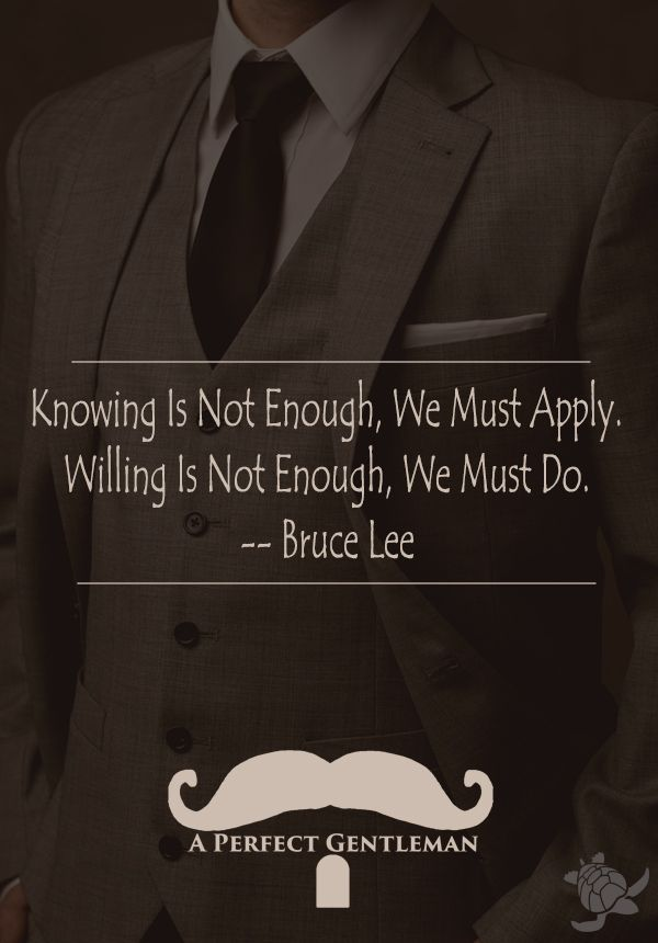 Knowing Is Not Enough, We Must Apply. Willing Is Not Enough, We Must Do. -Bruce Lee http://www.wfpblogs.com/2017/04/bruce-lee-not-enough-quote/