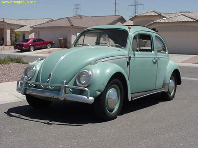 Vw Bug In Bright Green Just Like My Dad And Mom S Car