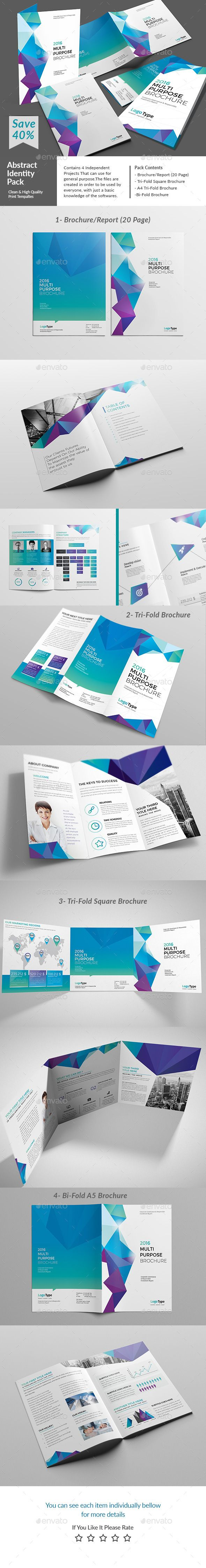 A4 & US letter Report Template PSD, InDesign INDD. Download here: http://graphicriver.net/item/abstract-print-pack-/14762944?ref=ksioks
