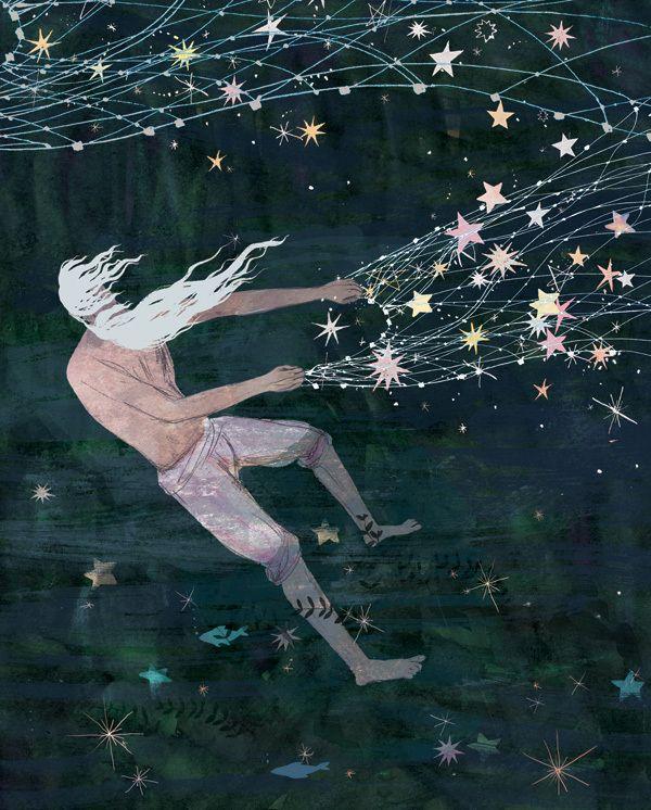 """""""Stellar Fisherman"""", from """"Armenian Tales and Legends"""" by Victoria Semykina. Thx: çizgili masallar"""