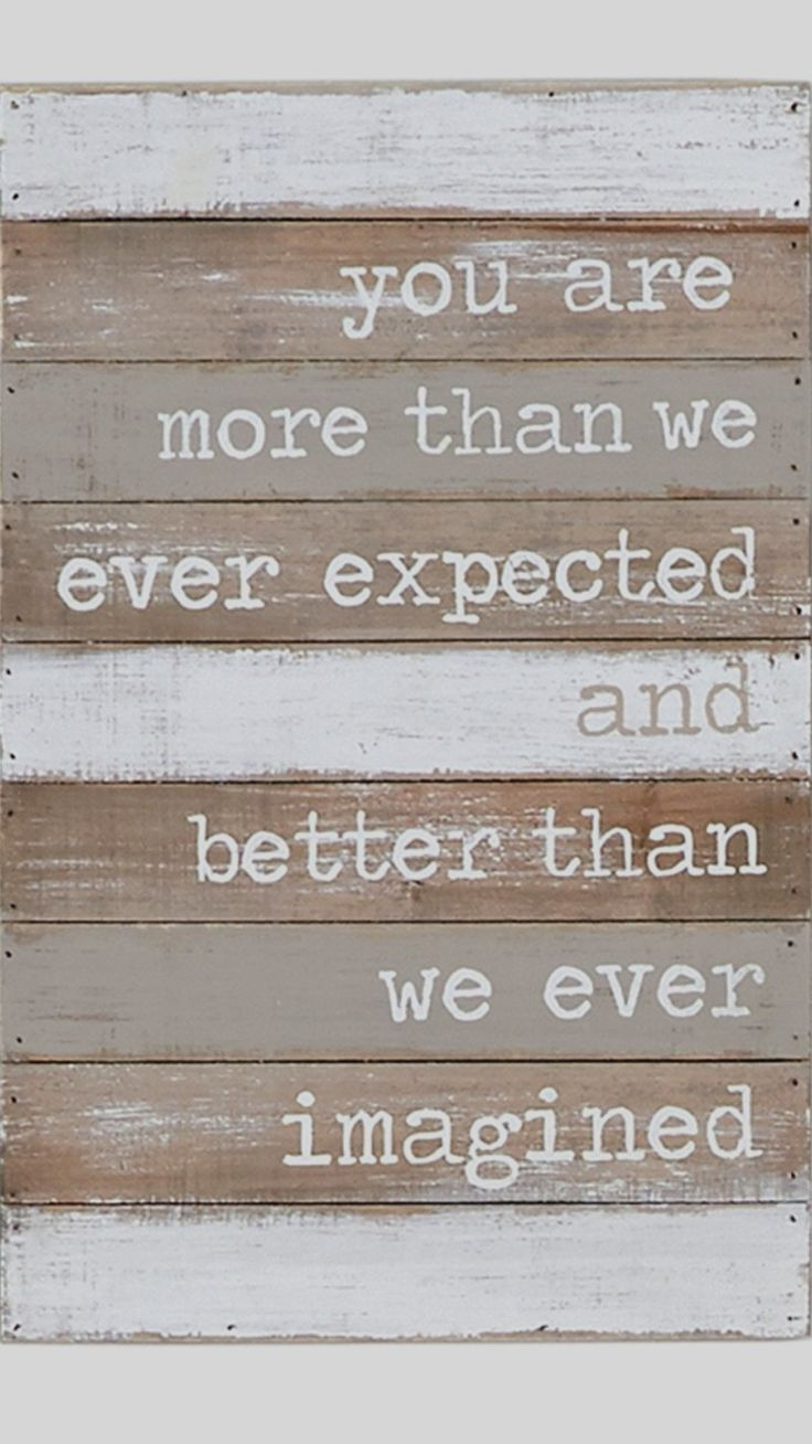 Great sign for a baby nursery - LOVE the saying!  Unique baby room decor ideas