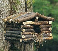 LOG CABIN BIRDHOUSE #birdhouse #cabin