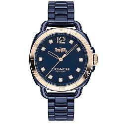 Relógio Coach Feminino Cerâmica Azul - 14502753