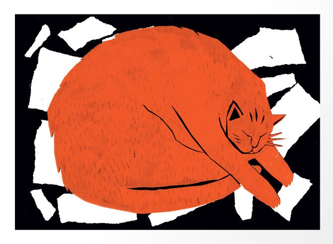 """""""Fat Cat"""" by Louise Lockhart"""