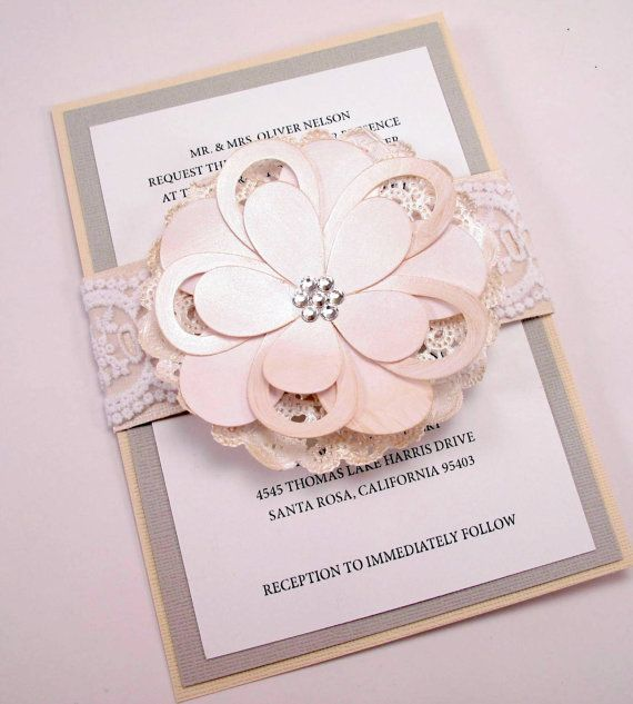I just died! <3  Lace Doily Wedding Invitation Country Shabby Chic 5 by BellaPapel, $8.50