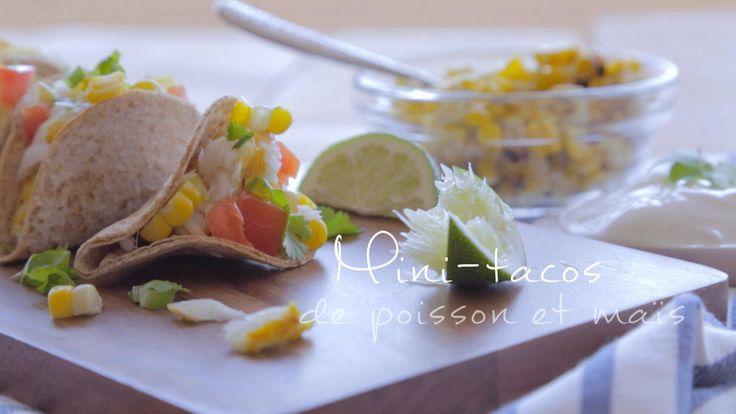 Mini-tacos de poisson et maïs